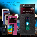 For Lenovo K 3 Note K50 T5 Case Silk Texture Dual View Window Leather Cover Case for Lenovo K3 Note K50-t5 / A7000 A 7000 Teana