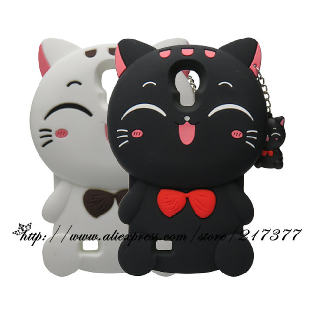huge selection of 2b516 2e7e6 US $3.95 10% OFF|Phone Cases For Samsung Galaxy S4 Case i9500 3D Cartoon  Cute Black Cat Silicone Case Cover For Samsung S4 Back Cover i9505-in  Fitted ...