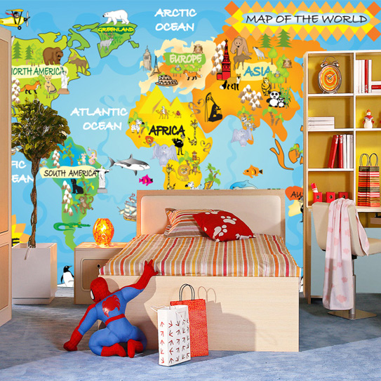Modern wallpaper kids bedroom background wallpaper cartoon eco modern wallpaper kids bedroom background wallpaper cartoon eco friendly wall paper map of the world gumiabroncs Images