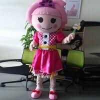 Ohlees фактические реальное изображение розового цвета для девочек Lalaloopsy кукла Маскоты костюм для взрослых Размеры наряд плюшевые костюмы на