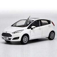1:18 литья под давлением модели для Ford Fiesta 1,0 т 2013 Белый редкий сплав игрушечный автомобиль миниатюрный коллекция подарки