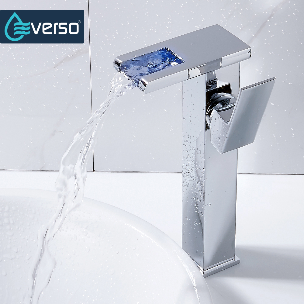 Wasserhahn Bad Led Everso Wasser Powered Led Wasserhahn Bad Waschbecken Wasserhahn