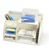 DIY Wood Desktop Sundries Jewelry Storage Boxes Cosmetics Stationery Storage Boxes Racks Home Admission Wooden Holder