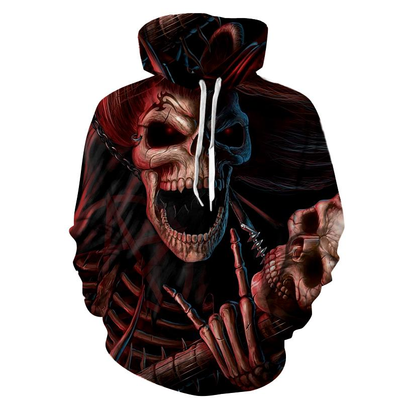Cloudstyle New Design Hoodie 3D Print Men Women Tracksuits Metal Skulls King Streetwear Long Sleeve Male Loose Hoodie Hoody Tops