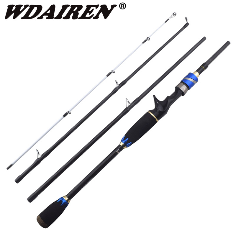 WDAIREN 1.8M 2.1M 100% Carbon Fiber Rod Spinning Fishing Rods Casting Travel Rod 4 Sections Fast Action Fishing Lure Rod tsurinoya 1 89m ul 100% carbon fiber rod spinning fishing rods casting travel rod 4 sections fast action fishing lure rod