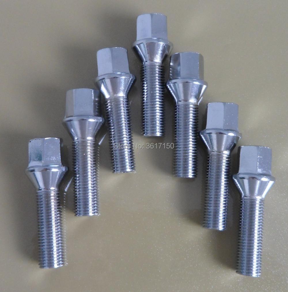 17mm Hex Head Radius Fitment 20 x M12 x 1.5 wheel bolts 45mm Thread Length