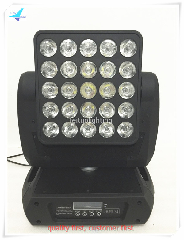 6pcs/lot 25x12w RGBW LED Super Beam Moving Head Stage Wash Light DMX Matrix Osram LED Moving Head Beam Light Lumiere for Disco