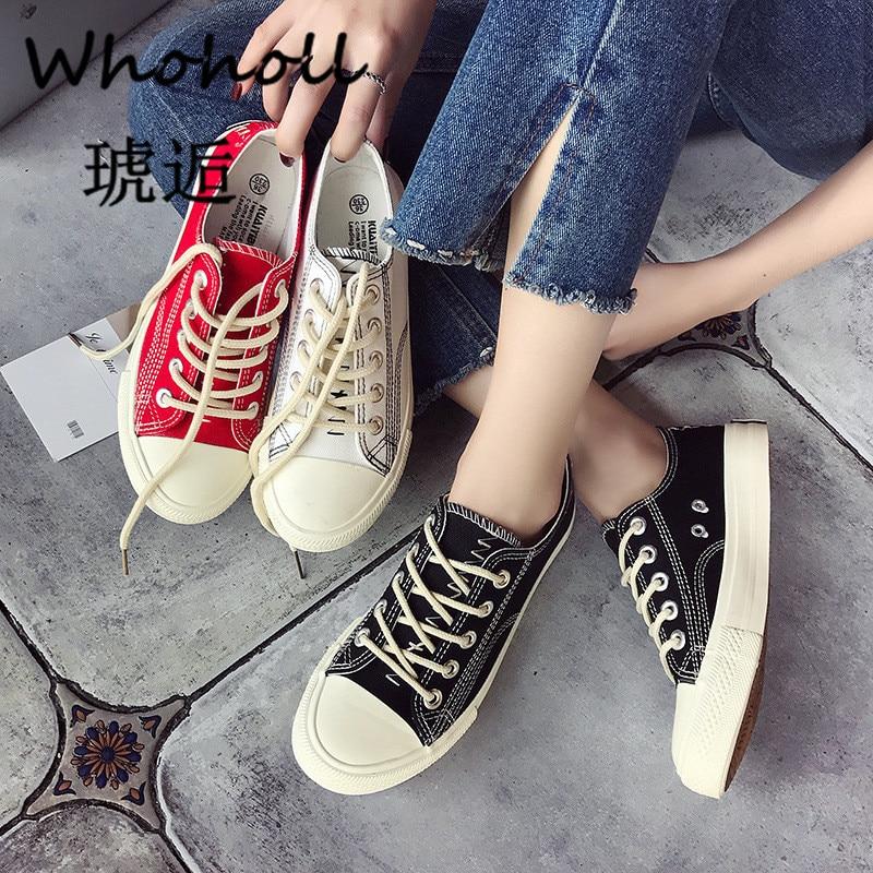 2019 New Women Vulcanize Shoes Casual Women Shoes Fashion Sneakers Women Canvas Shoes Cartoon Ladies Shoes White Espadrilles 40 in Women 39 s Vulcanize Shoes from Shoes