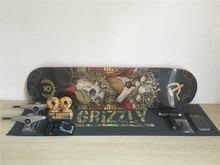 Pro Skateboard Set Multi Brands Skate Deck Trucks Wheels & Bearings Plus Hardware Set Riser Pad & Installing Tool