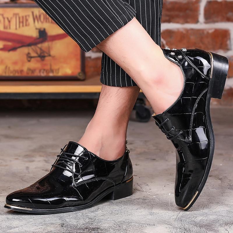 Luxe Bout Chaussures Taille Hommes Cuir Pour Pointu Black En blue De Oxford Grande red D'affaires Robe Verni Formelles Mariage d4qHc1g0W
