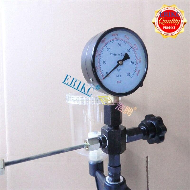 ERIKC buse testeur prix usine Diesel mécanique commune Rail outil S60h injecteur de carburant avec 0-400 Bar/0-6000 Psi 60mpa