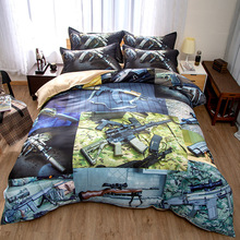 Military equipment 3D bedding set  Duvet Covers Pillowcases aircraft tank firearms comforter sets bedclothes bed linen