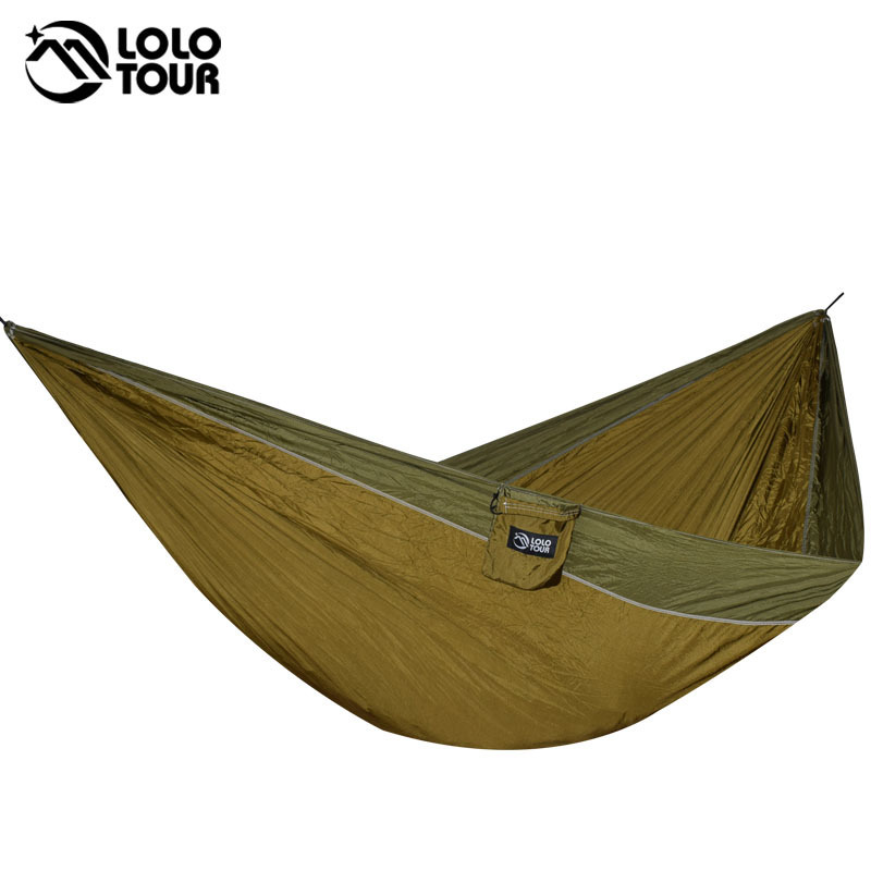 Big-Size Double Hammock For 2 Lightweight Portable Hanging Bed Durable Camping Travel Swing Chair Nylon Outdoor Furniture furniture size hanging sleeping bed parachute nylon fabric outdoor camping hammocks double person portable hammock swing bed