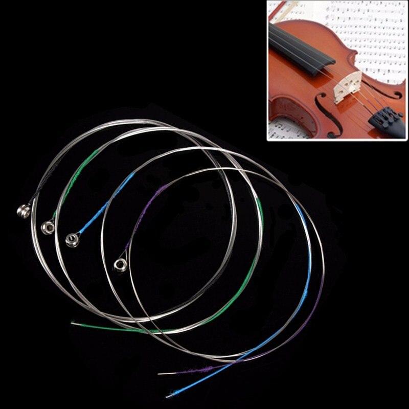 Astonvilla 4pcs Professional Cupro-nickel Alloy Violin Strings Set for All Size Violin Fiddle