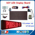 16*128 pixels p10 red led display panel programmable and scrolling message led sign outdoor advertising led screen