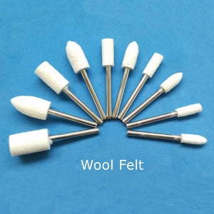 Image 5 - 100 pcs Wool Felt Grinding Heads 4 10mm Dremel Mini Drill Felt Wheel for Metal Polish