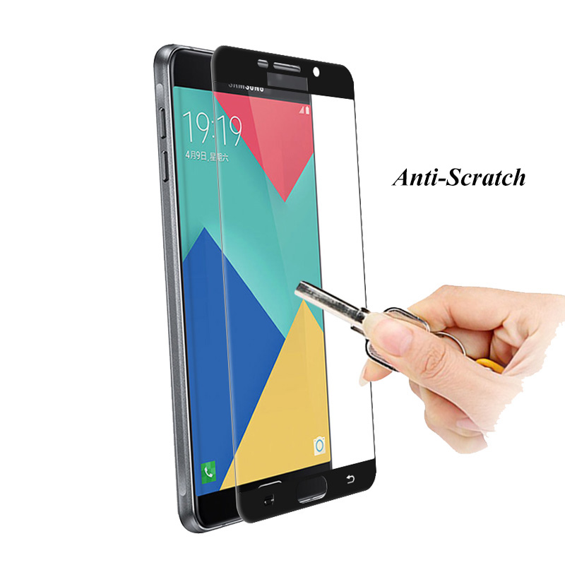Full Cover Tempered Glass For Samsung Galaxy A5 2016 J5 J3 J7 A3 2017 A7 A8 Plus 2018 Note 4 5 Colorful Screen Protector Film