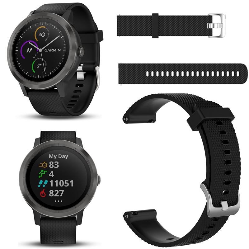 все цены на Soft Silicone Replacement Watch Strap for Garmin vivoactive 3 vivomove HR Colorful Plaid Smart Wristband for GARMIN VivoActive 3 онлайн