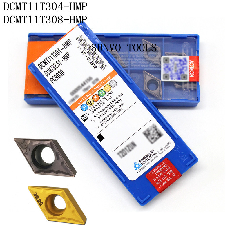 50PCS DCMT11T304 DCMT11T308-HMP PC9030 NC3030 KORLOY CNC carbide milling inserts for indexable end milling cutter SDJCR1616H11 цены