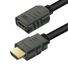 HDMI Cable de extensión macho a hembra 1M/2M/3M/5M HDMI 4K 3D 1,4 v HDMI Cable extendido para TV HD LCD portátil PS3 para proyector