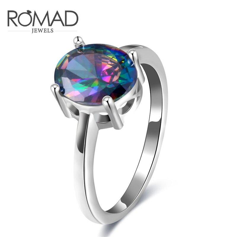 2017 г. роскошные женские AAA циркон кольцо Мода Большой Круглый серебро заполнено обещание Обручение кольца для Для женщин Подарки