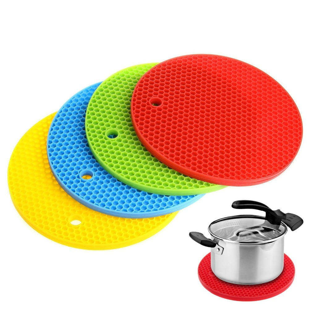 Silicone Pot Holder 4 PCS Trivet Mat Hot Pads Silicone Heat Resistant  Coasters Cup Insulation Mat Tableware Insulation Pad In Mats U0026 Pads From  Home U0026 Garden ...