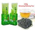 250 г Известный Здравоохранение Тайвань Женьшень Улун, китайский Женьшень Чай, чай для похудения, улун Чай, бесплатная Доставка