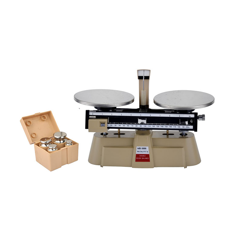 MB2000 Weighing Balance Two Gauge Beam Scale 2000g 0.1g Reselution 800g electronic balance measuring scale with different units counting balance and weight balance