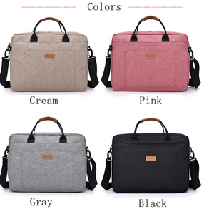 Image 4 - Men Canvas Business Briefcase Office Travel Messenger Large Tote Womens Computer Work Bag Business Trip File Package Laptop Bag