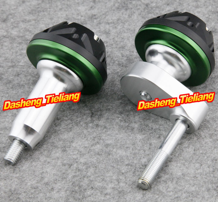 For Kawasaki Ninja ZX6R 2007 2008 Motorcycle Frame Sliders Crash Pads Protector 07 08, GREEN Color, Spare Parts Supplies