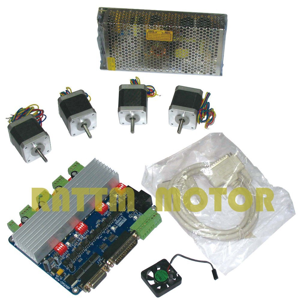 4 NEMA17 78 oz-in stepper motor + 4 axis TB6560 Motor Driver board cnc controller kit вытяжка классическая schaub lorenz sld wb 6500