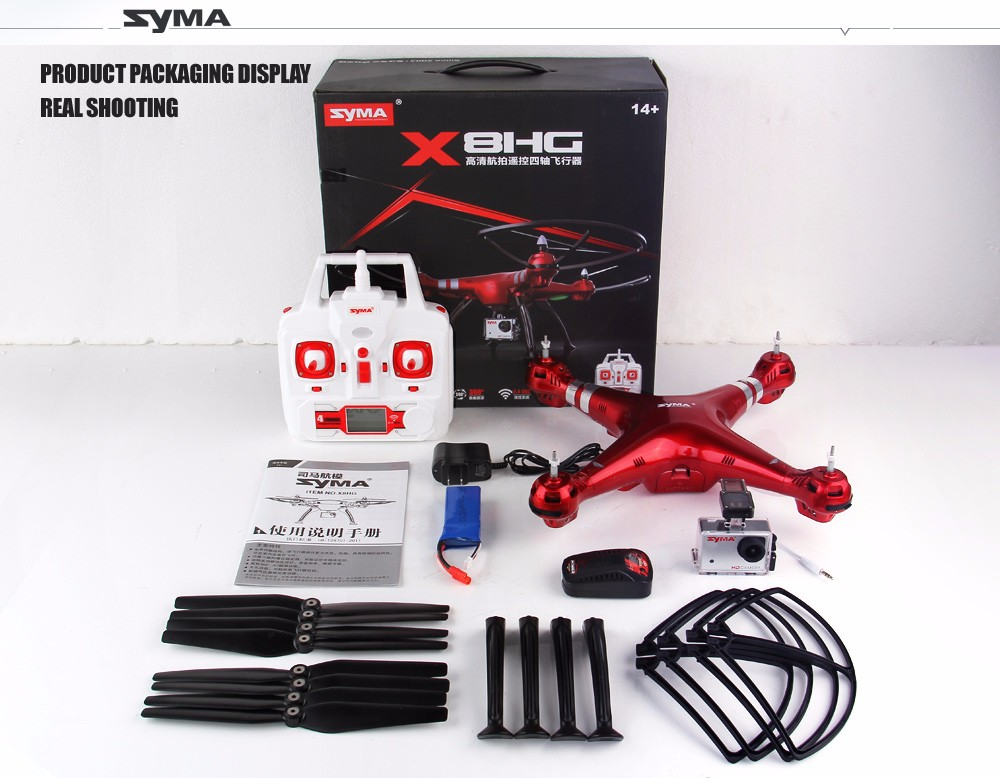 SYMA Professional UAV X8HG X8HW X8HC 2.4G 4CH RC Helicopter Drones 1080P 8MP HD Camera Quadcopter (SYMA X8C/X8W/ X8G Upgrade) 28