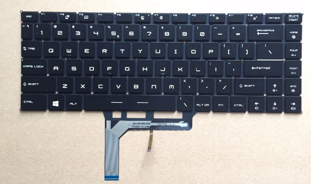 for MSI GS65 GS65VR MS-16Q1 P65 Black US Laptop Keyboard With Backlit