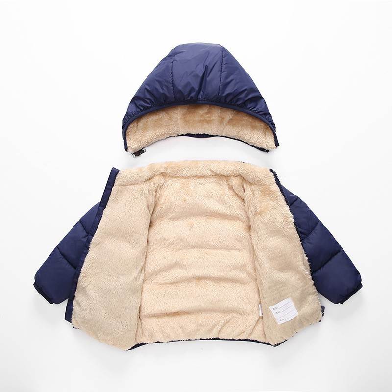 COOTELILI Fleece Winter Parkas Kids Jackets For Girls Boys Warm Thick Velvet Children's Coat Baby Outerwear Infant Overcoat (7)