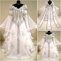 SC 928 Victorian Gothic Vintage Dress Halloween Theater Dress Custom Made