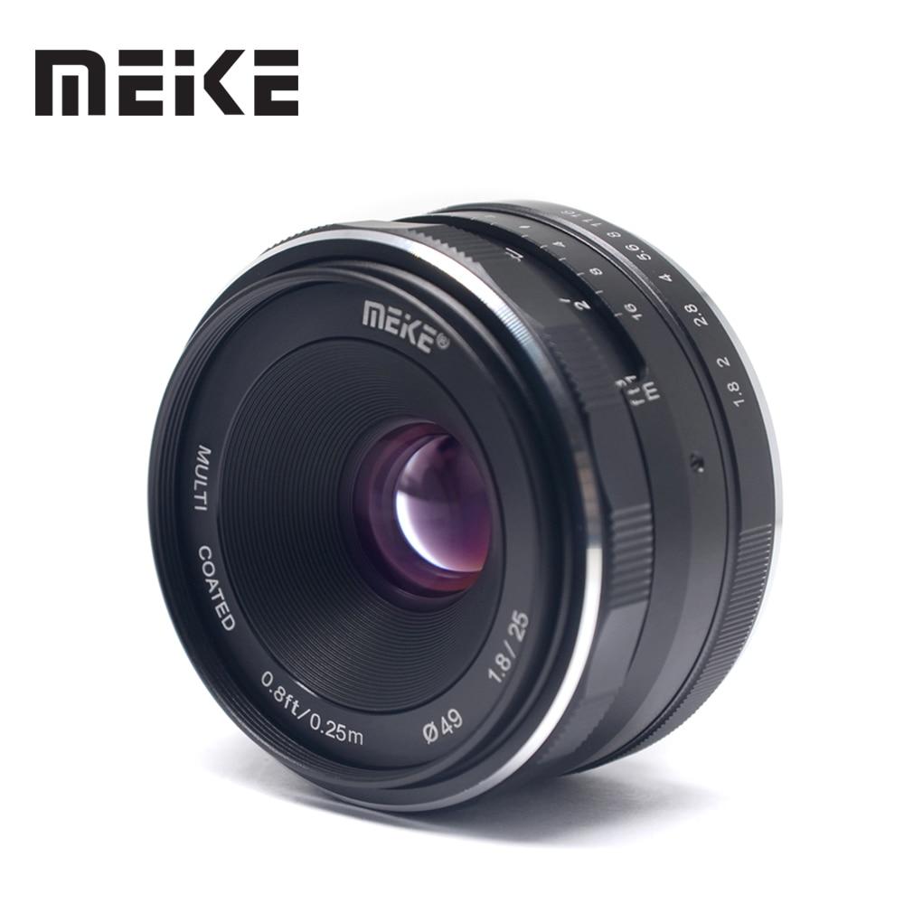 Meike 25mm f/1.8 Objectif Grand Angle Manuel lentille focale pour fuji film fuji X-montage XT1 XP1 XE2 XT2 XT3 XT20 XT10 Compacts