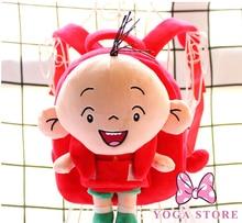 1PC 25cm cartoon big head boy plush doll backpacks lovely kindergarten infant shoulder bag Satchel girl