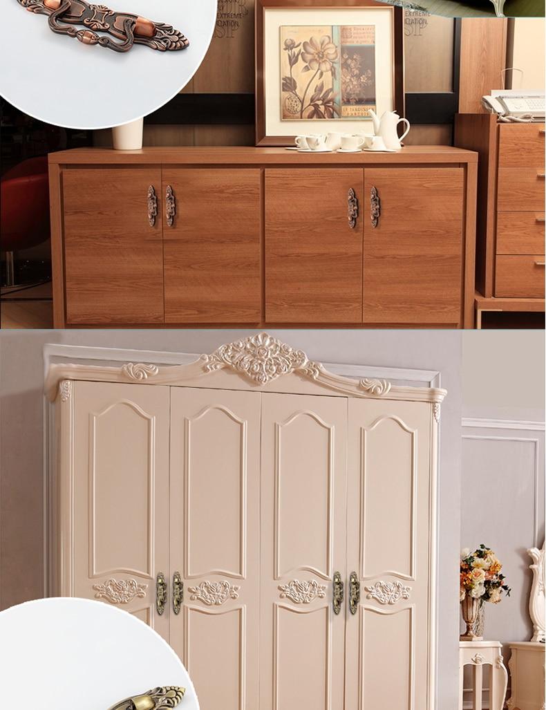 Мебель Кухня Системы Шкаф Потяните ручки и двери шкафа Ручка античная Медь