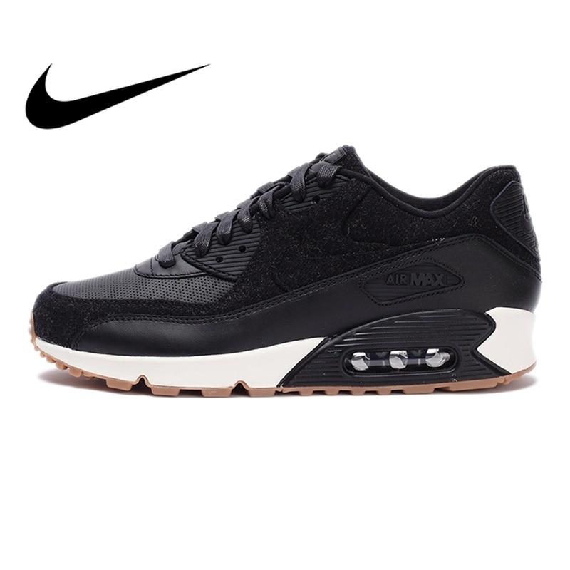 Оригинальные аутентичные NIKE AIR MAX 90 ПРЕМИУМ для мужчин кроссовки дышащие Nike мужская обувь удобные прочные классические