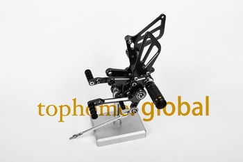 Motorcycle Black CNC Rearsets Foot Pegs Rear Set For Suzuki GSXR1000 2001-2004 2002 2003