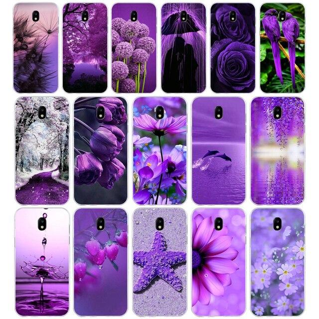 269 H infinity trên màu tím Mềm Silicone Tpu Bìa điện thoại Trường Hợp đối Với Samsung j3 j5 j7 2016 2017 a3 2016 a5 2017 a6 2018