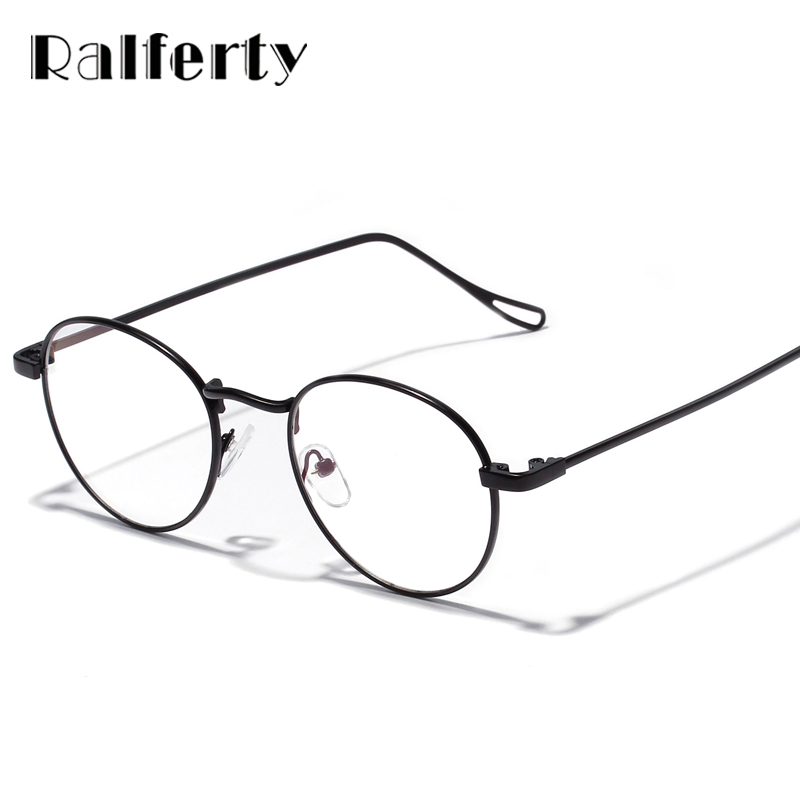 f51ef054d3 Ralferty Retro Round Clear Glasses Frame Women Men Vintage Metal Rims  Optical Frames Small Prescription Eyeglasses