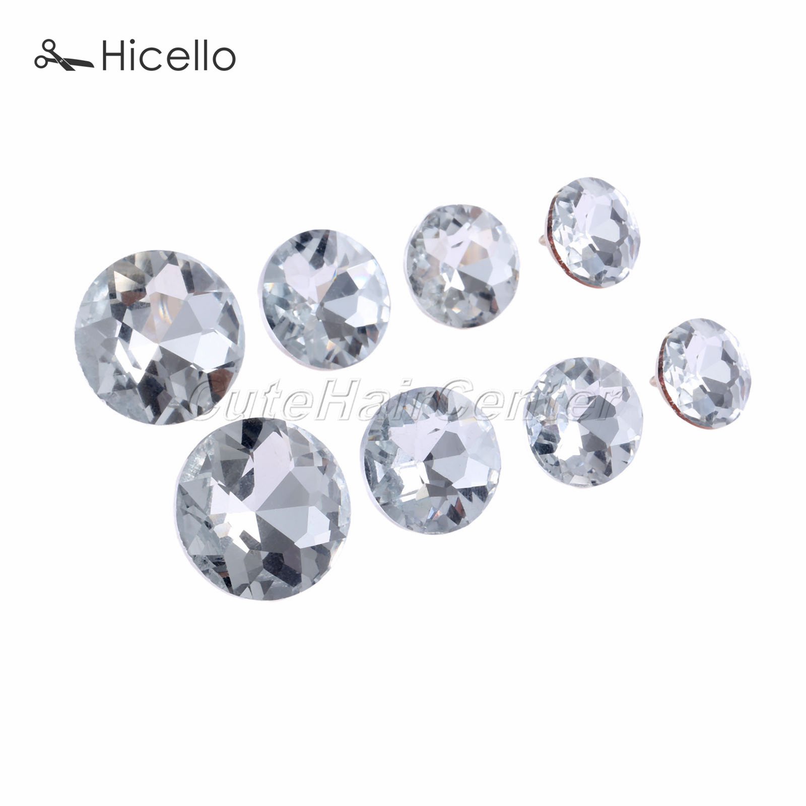 25pcs Silver Crystal Sofa Upholstery Button for Sewing Craft Decoration 16mm