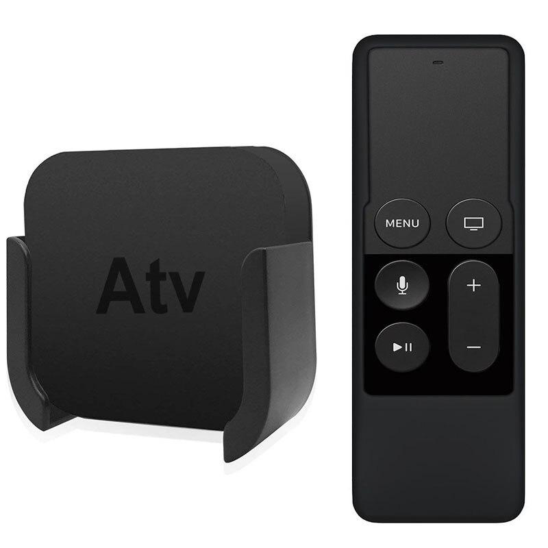 Para Apple TV Control remoto soportes de montaje en pared soporte con silicona Siri protección para mando a distancia funda para Apple TV 4ta 4k 100 Uds soporte de montaje 10mm Clip de fijación para 5050 5630 LED tira de luz con tornillos Dropshipping