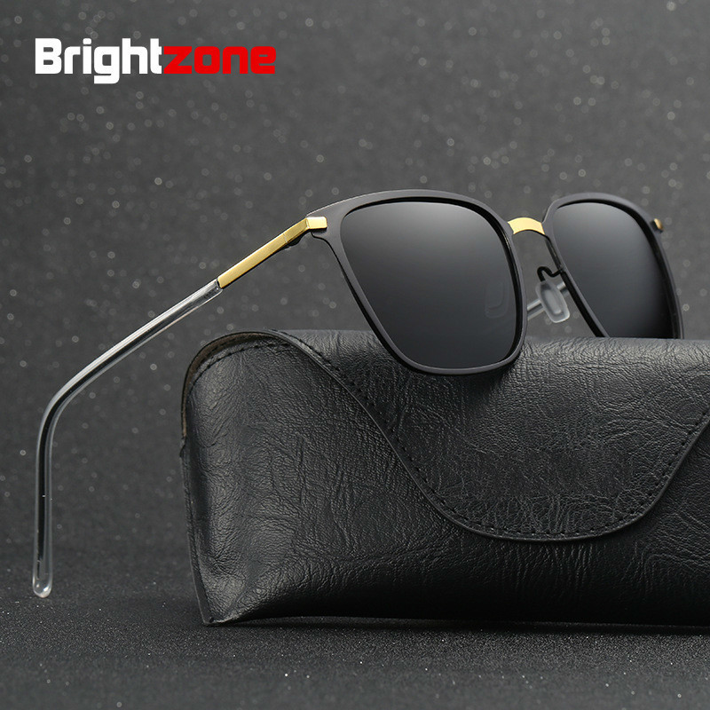Brightzone Premium Man Anti-UVA And UVB Polarized Sunglasses Metal Driver Driving Fishing Sun Glasses Oculos De Sol Women Gafas ...