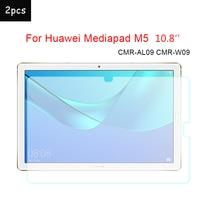 2 stücke 9H Gehärtetem Glas Für Huawei M5 Screen Protector 2.5D Transparent Film Glas Für Huawei Mediapad M5 10 8 ''CMR-AL09 CMR-W09