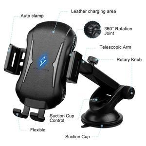 Image 3 - Qi bezprzewodowa ładowarka samochodowa góra auto mocowanie 10W szybkie ładowanie uchwyt telefonu dla iPhone 11 8 X XR XS Samsung S20 S10 S9 uwaga 10 9