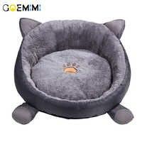 Nova chegada gato cama quente veludo confortável forma de orelha canil para filhote de cachorro cama gato gato adorável macio caverna casa para gato