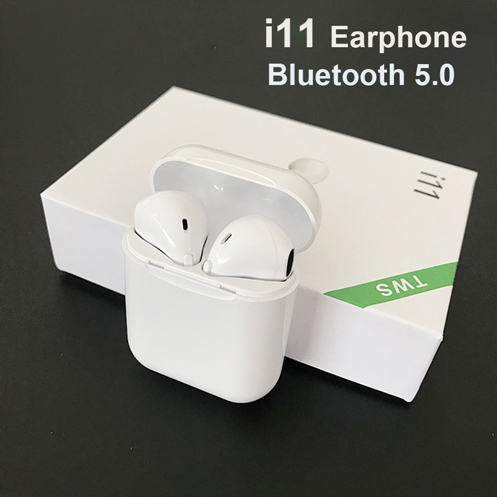 Bluetooth Earphone i11 <font><b>TWS</b></font> Headset Wireless Bluetooth 5.0 Mini Earbuds Wireless Earphones mini wireless bluetooth earphone image