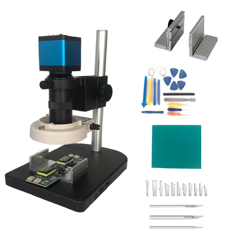 13MP HDMI VGA Industrial Microscope Camera 8X -130X Zoom C-mount Lens Glass 56 led lights for soldering pcb phone repair tools13MP HDMI VGA Industrial Microscope Camera 8X -130X Zoom C-mount Lens Glass 56 led lights for soldering pcb phone repair tools